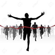 11660353-Les-coureurs-de-marathon-Finition-ligne-Banque-d'images