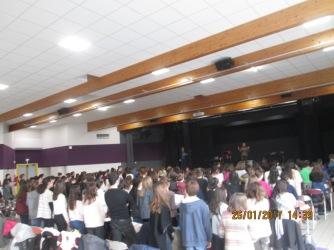 En attendant le concert, voici quelques photos du 23 janvier à Chaponost et du 31 mars à Francheville.