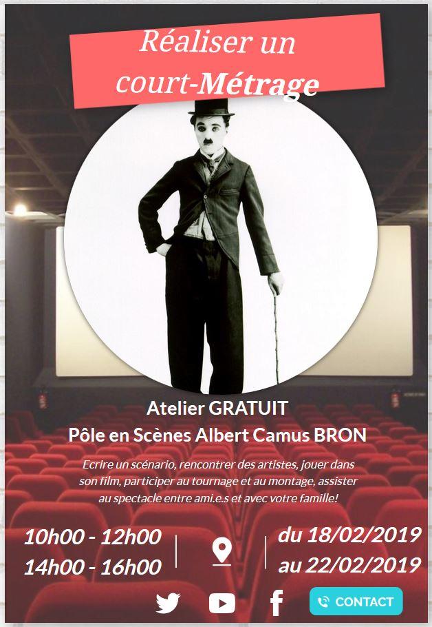 Affiche Charlie Chaplin - Pôle en Scènes
